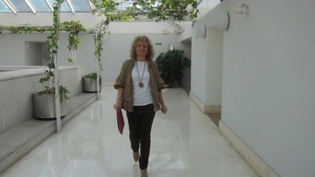 Eva Díaz Tezanos en el Parlamento