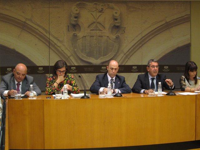 El consejero Burgos en la comparecencia parlamentaria