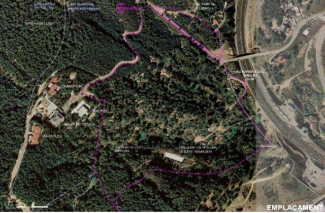 Vista aérea de los terrenos donde se construirá la nueva perrera de Barcelona