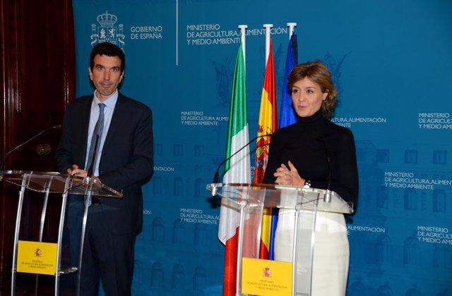 Isabel García Tejerina y Maurizio Martina