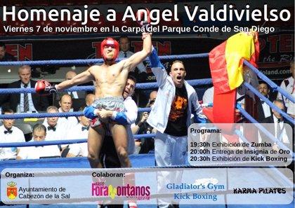 Cabezón de la Sal homenajea el viernes a Ángel Valdivieso, campeón de Europa de Kick Boxing