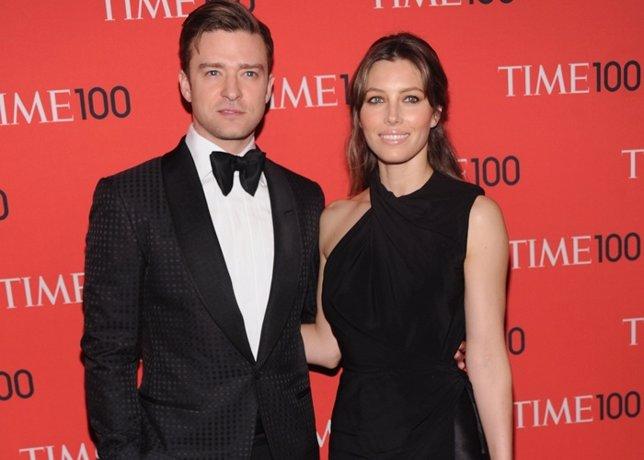 Justin Timberlake and Jessica Biel attend the 2013 Tim