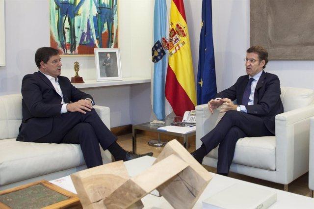 Reunión de Alberto Núñez Feijóo y José Ramón Gómez Besteiro