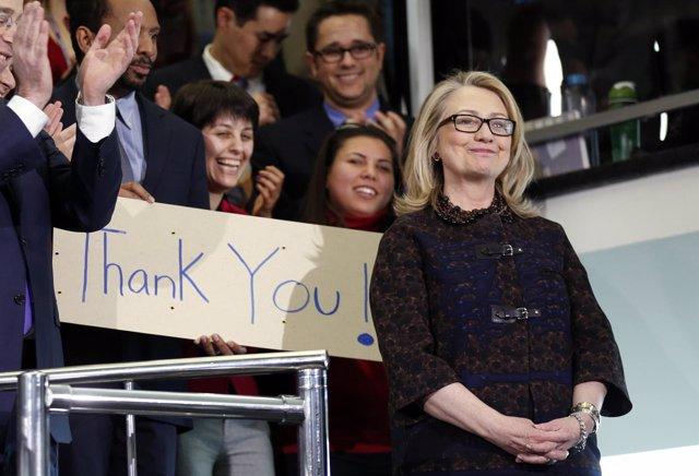 Hillary Clinton se despide como secretario de Estado
