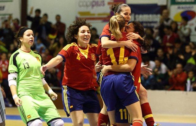 España vence a Japón en el estreno del Mundial femenino de fútbol sala