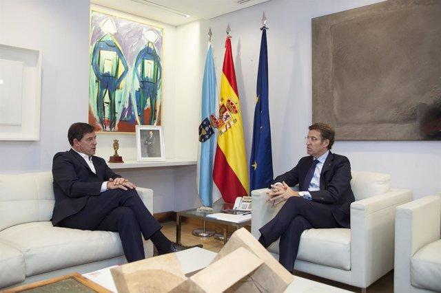 SAN CAETANO 11,00 h.-     O presidente do Goberno galego, Alberto Núñez Feijóo,