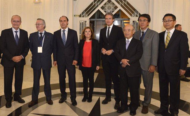 Recepción a los congresistas del foro España-Japón