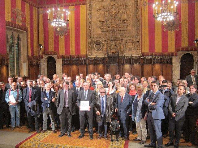 Parte de los participantes del Libro Blanco del Ayuntamiento de Barcelona