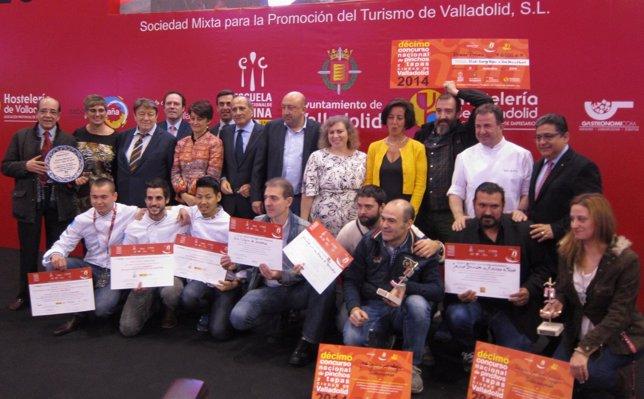 Premiados y representantes en el X Concurso Nacional de Pinchos y Tapas