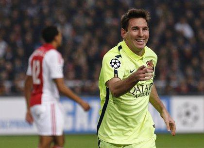 Un Messi de récord lleva al Barça a los octavos