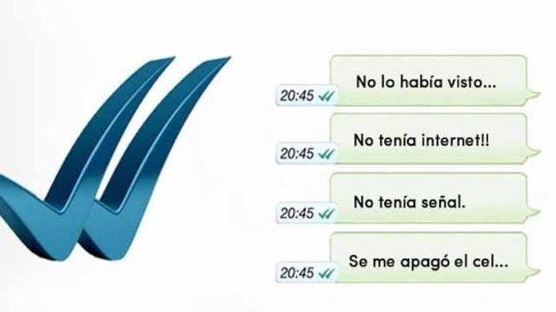 Los ticks azules de Whatsapp generan memes de indignación en Twitter