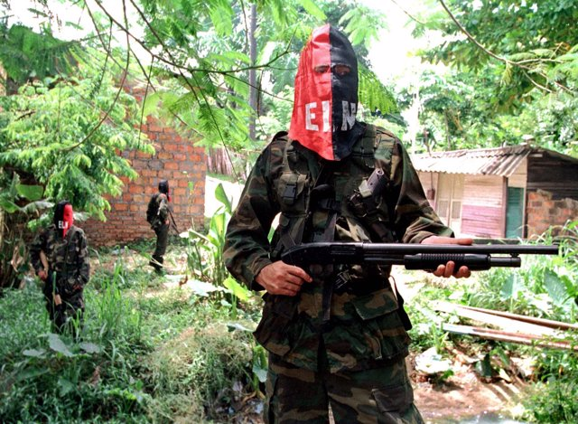 Miembros del movimiento guerrillero ELN