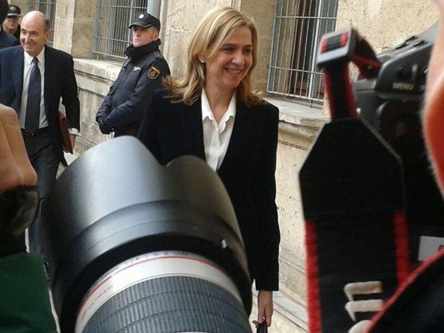 La Infanta Cristina llega a los juzgados de Palma