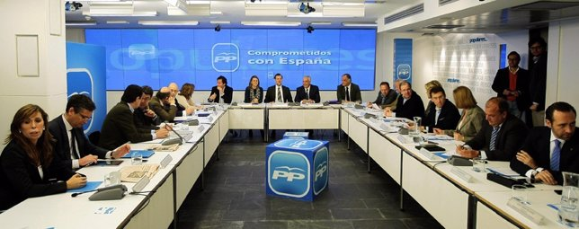 Reunión Rajoy Y Presidentes Del PP