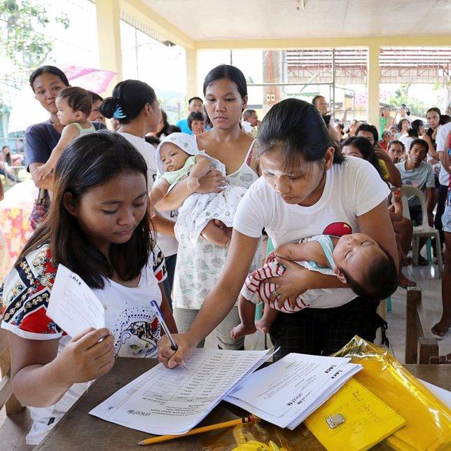 tareas de recontrucción Filipionas