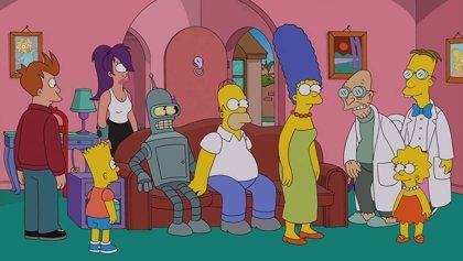 Así será el crossover entre Los Simpson y Futurama