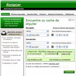 Nueva web de Europcar en España
