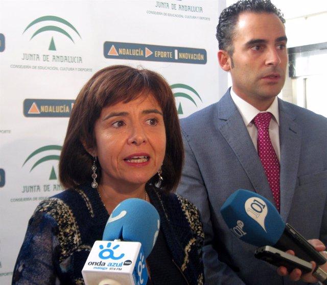 La directora del IAM, Silvia Oñate, y el delegado de Igualdad, Daniel Pérez
