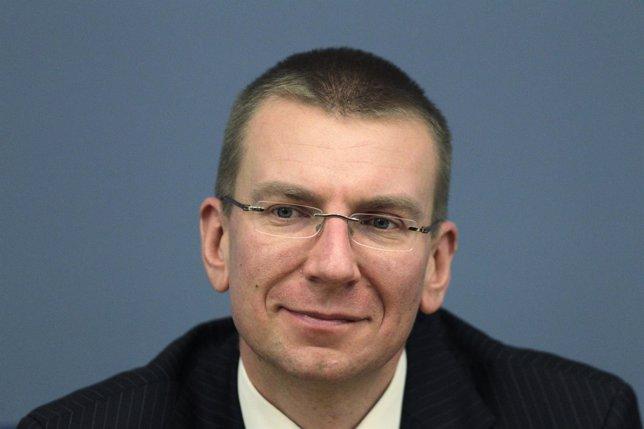 El ministro de Exteriores de Letonia, Edgars Rinkevics