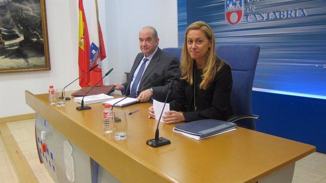 Cristina Mazas con Emilio del Valle en rueda de prensa