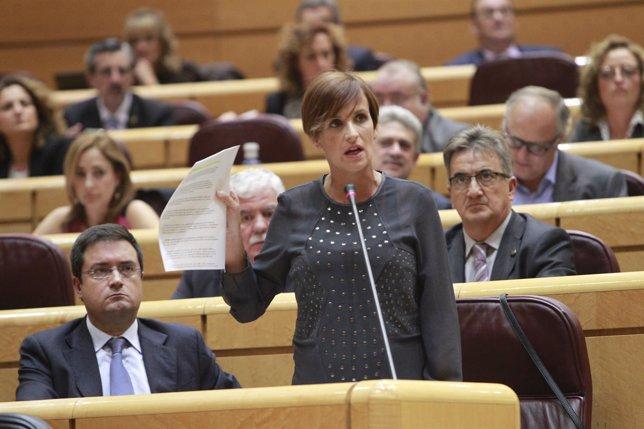 María Chivite en el Senado