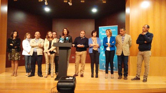 Antonia Ledesma y equipo de gobierno Alhaurín el Grande