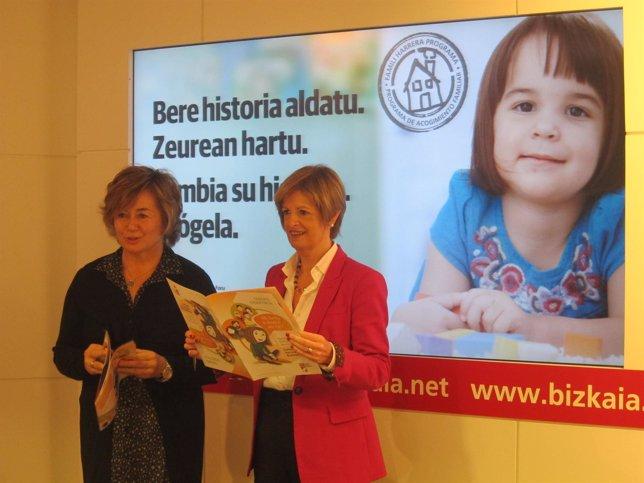 Arantza Aurrekoetxea y Pilar Ardanza presentan la campaña