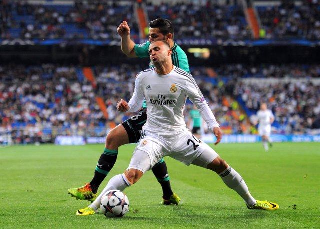 Jesé Rodríguez en el momento de su lesión