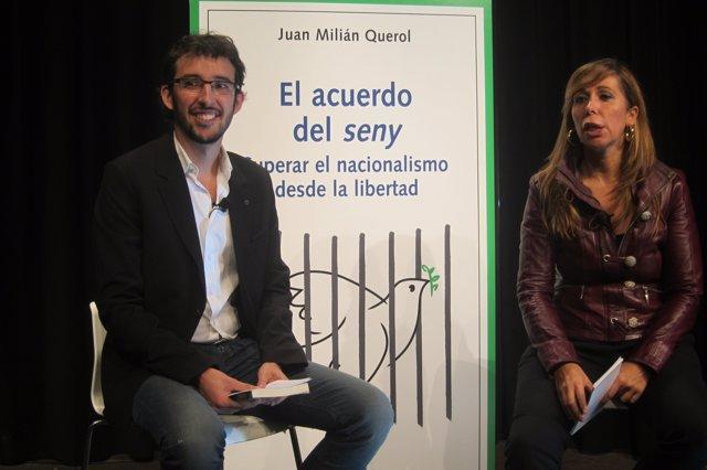 La presidenta del PP catalán, Alicia Sánchez-Camacho, y  el diputado Juan Milián