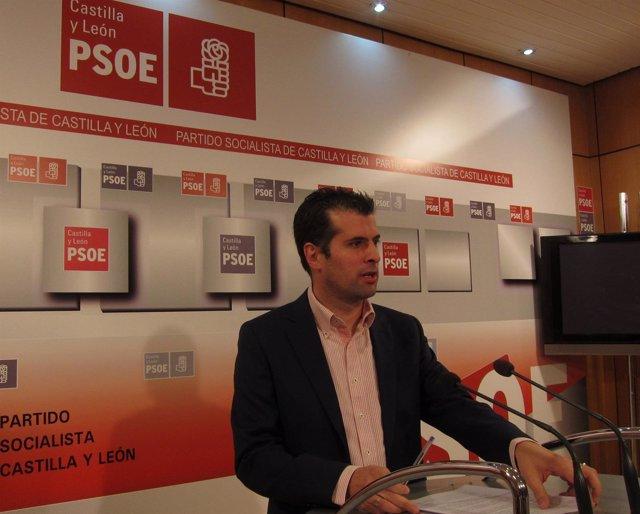Tudanca en la rueda de prensa sobre medidas para la transparencia