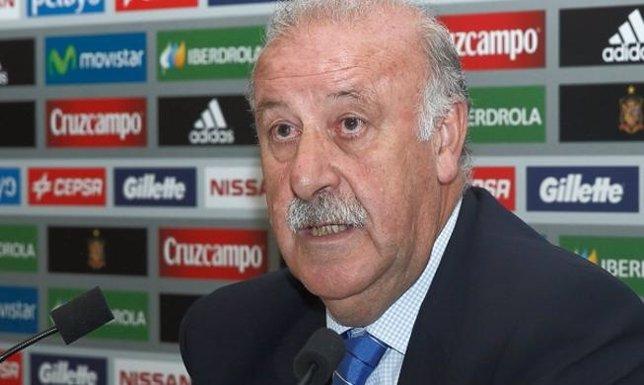 Vicente del Bosque en rueda de prensa