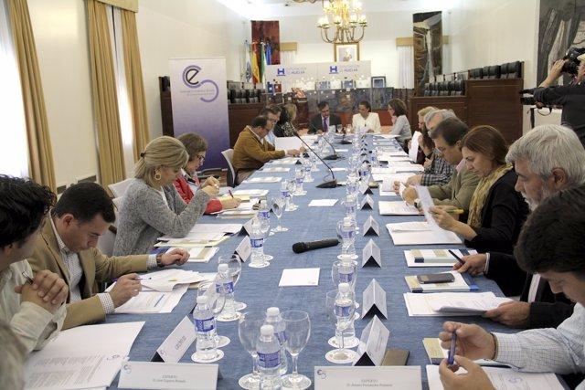 Pleno del Consejo Econonómico y Social (CES) de Huelva.