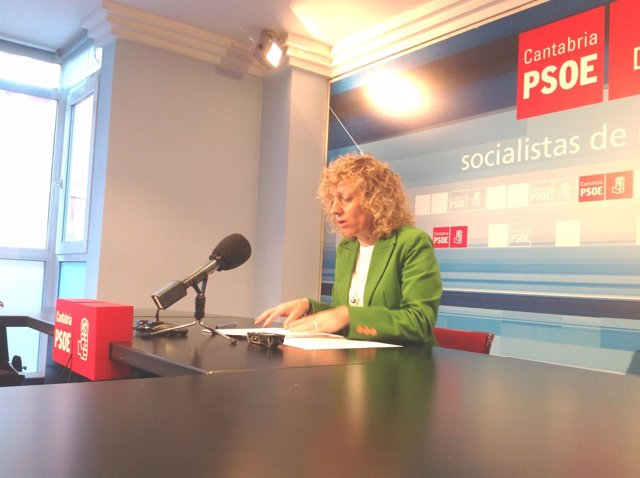 La secretaria general del PSC-PSOE, Eva Díaz Tezanos