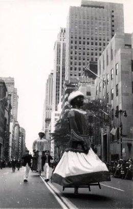 Los gigantes de Pamplona en Nueva York.