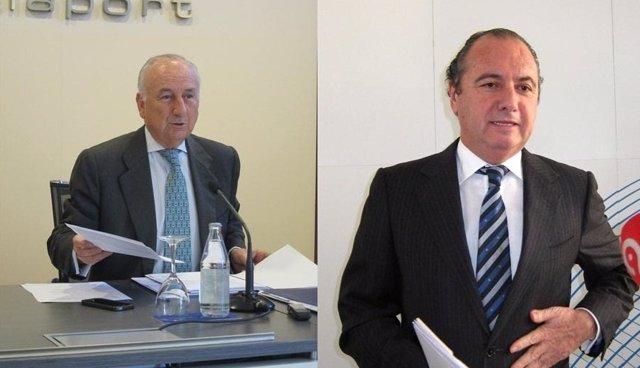 Rafael Aznar, a la izquierda, y Ripoll, a la derecha