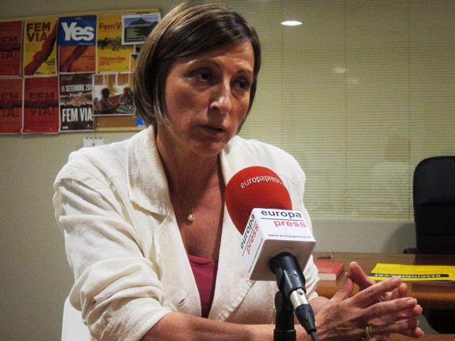 Entrevista de Europa Press a Carme Forcadell (ANC)