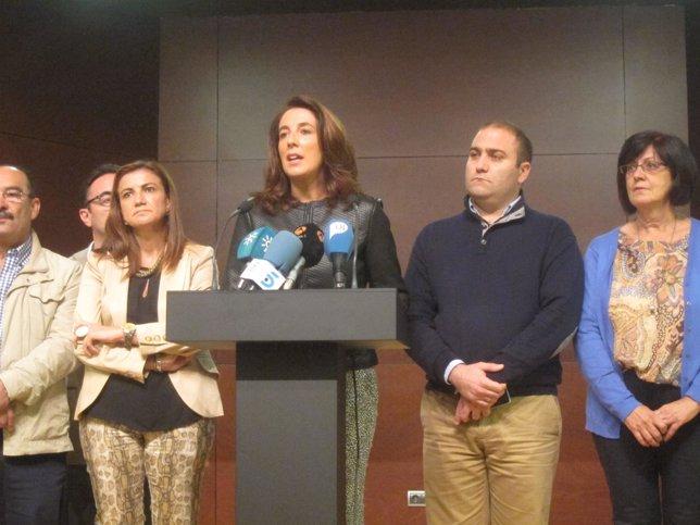 Antonia ledesma alhaurin el gra nde comparece co  equipo de gobierno