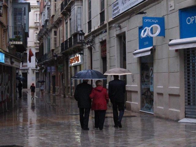 Precipitaciones, lluvia, llover, centro, paraguas, agua