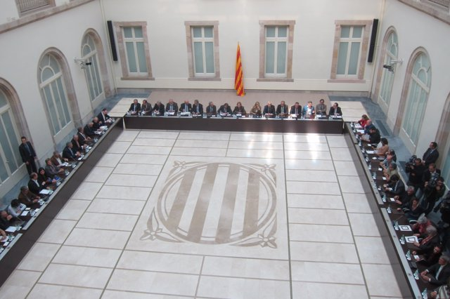 Reunión del Pacte Nacional pel Dret a Decidir antes del 9N