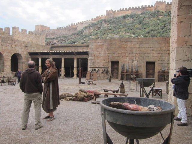 Rodaje de la película 'Clavius' a los pies de La Alcazaba de Almería