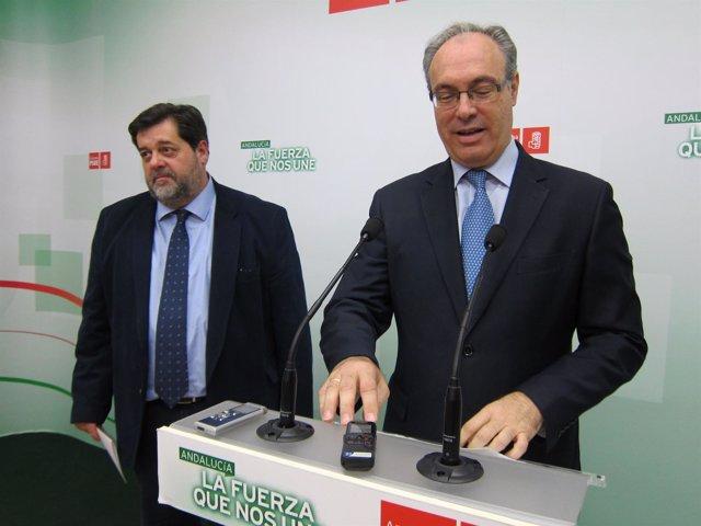 Toledo y Durán en la sede del PSOE de Córdoba