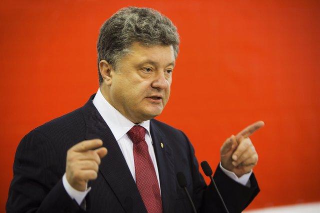 El presidente ucraniano, Petro Poroshenko