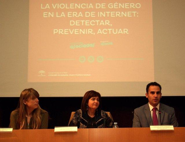 Estefanía Martín Palop, Silvia Oñate IAM y el delegado Daniel Pérez