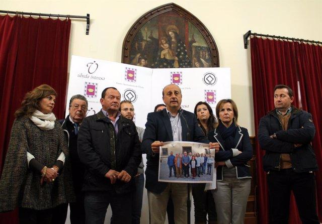Rueda de prensa del alcalde de Úbeda, José Robles, este viernes
