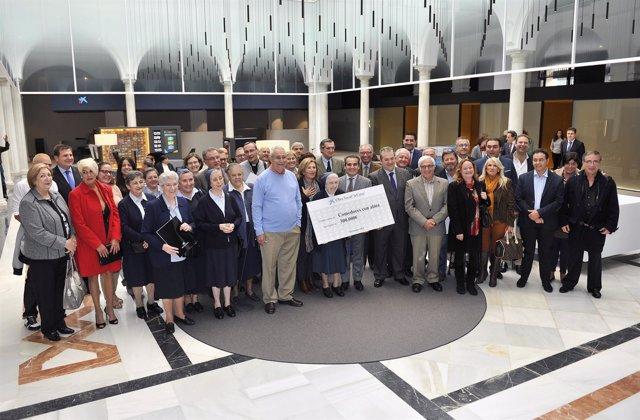 La Caixa con representantes de comedores de Cádiz, Huelva y Sevilla