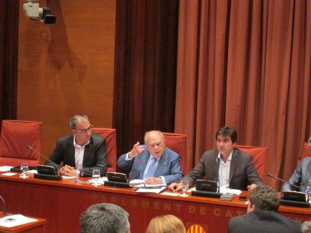 El expresidente de la Generalitat Jordi Pujol enfadado en el Parlament