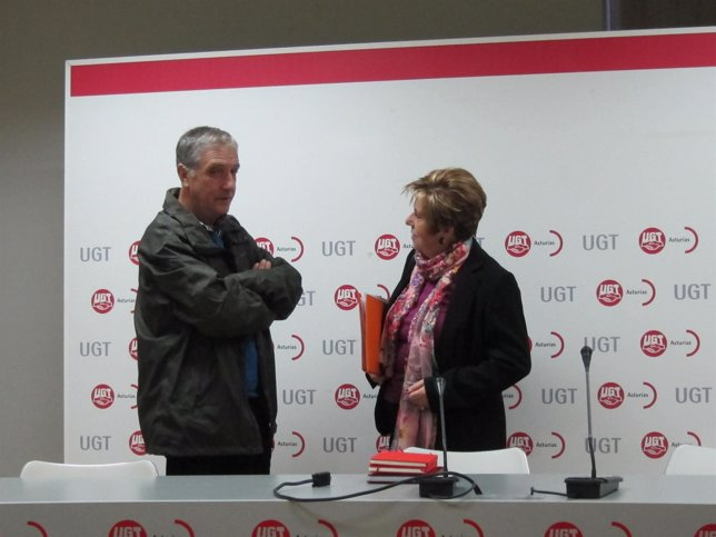 Maximina Fernández Y Carlos L. Cortiña, Secretario Federal De FETE-UGT