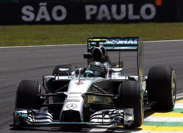 Nico Rosberg en el circuito de Interlagos