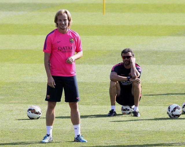 FC Barcelona Luis Enrique Ivan Rakitic entrenamiento