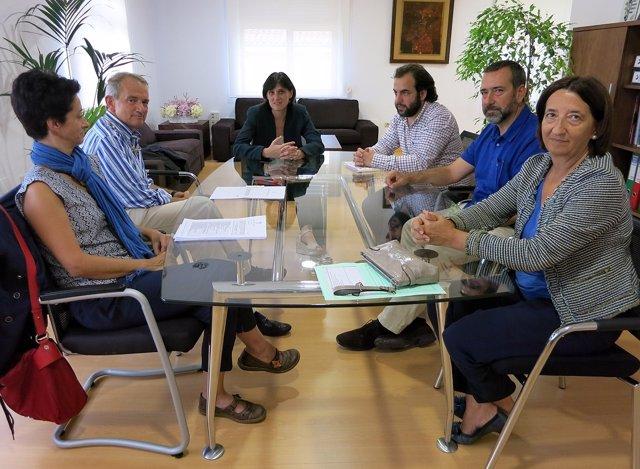 Reunión del comité de expertos con la alcaldesa y el concejal de Urbanismo